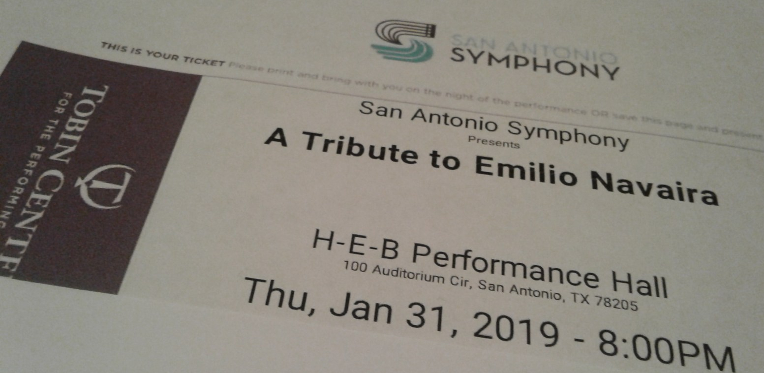 UPDATE/PHOTOS: SA Symphony Emilio Tribute  TONIGHT
